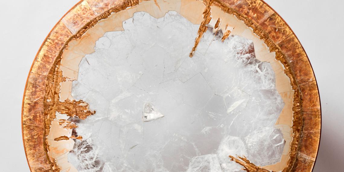 Table Horizon en cristal de roche © Hervé Obligi