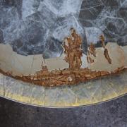 Table Horizon, Hervé Obligi, marqueteur de pierres dures © Hervé Obligi