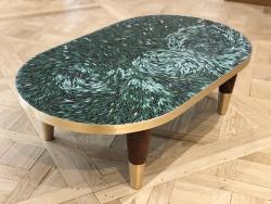 Atelier Lilikpo_Sika Viagbo_Table basse Prune Verte