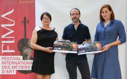 Jocelyne CAREL, ajointe au Maire de Baccarates avec les lauréats Christophe PETITJEAN et Elisabeth HANS